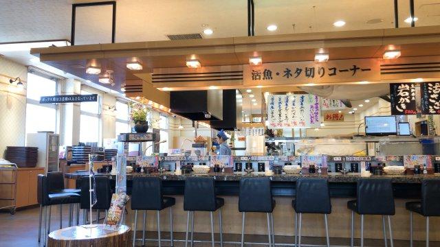 北海道のオープン前の店内