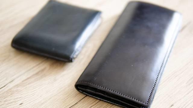 長財布と二つ折り財布