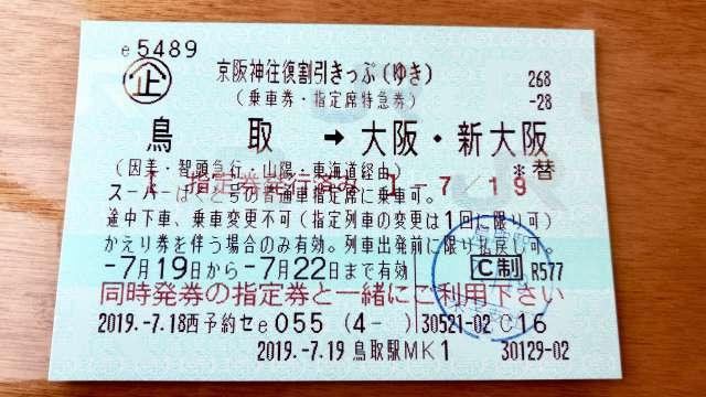 京阪神往復割引きっぷ