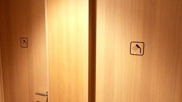 ファーストキャビンのシャワールーム