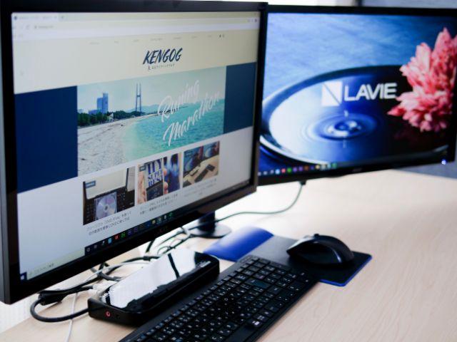 Acerモニターを使ってデュアルディスプレイを構築