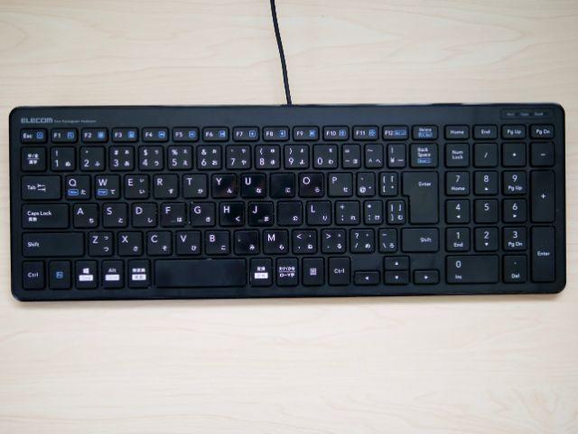 エレコムのキーボード「TK-FCP097BK」