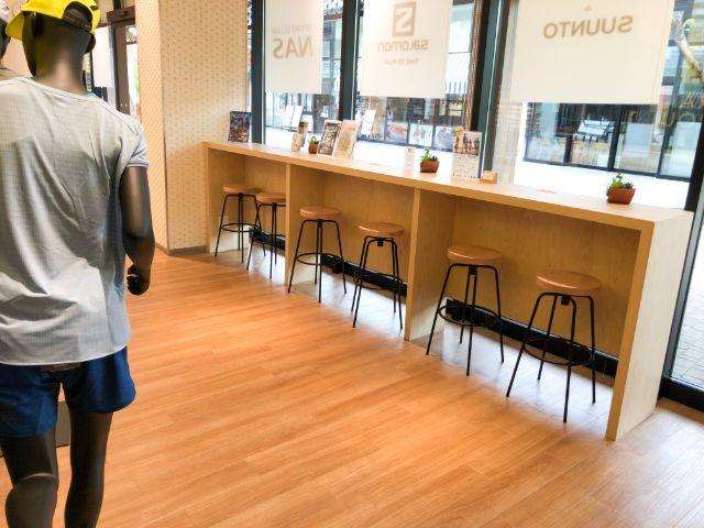 ランニングベース大阪城のカフェスペース