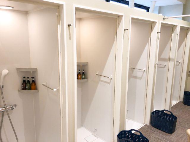 ランニングベース大阪城のシャワールーム