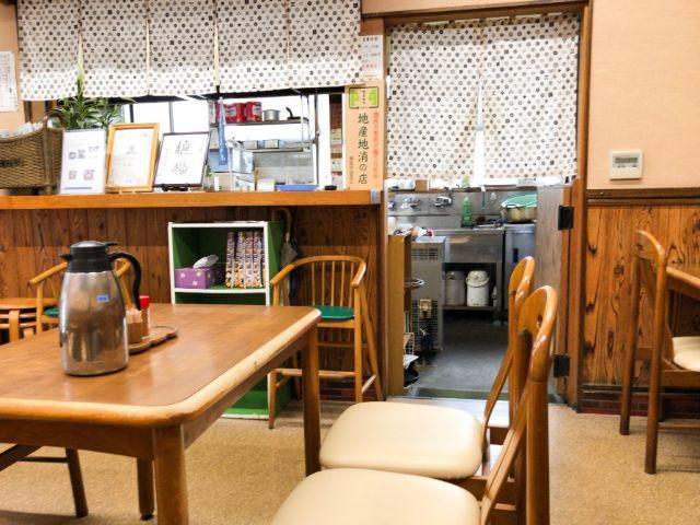 武蔵屋食堂の店内
