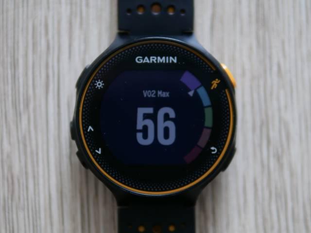 ガーミンで計測したVO2MAX