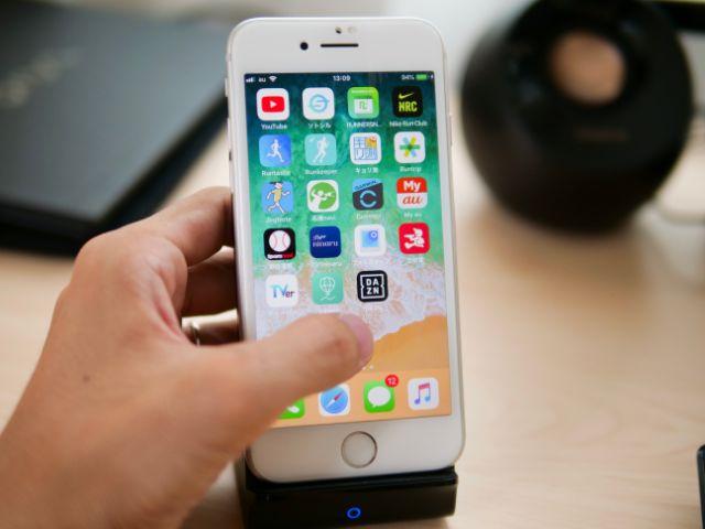 スタンドのiPhoneを操作する
