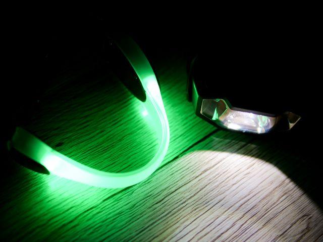 明るく光るランニングライト