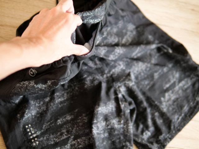 ランニングパンツのジッパーポケット