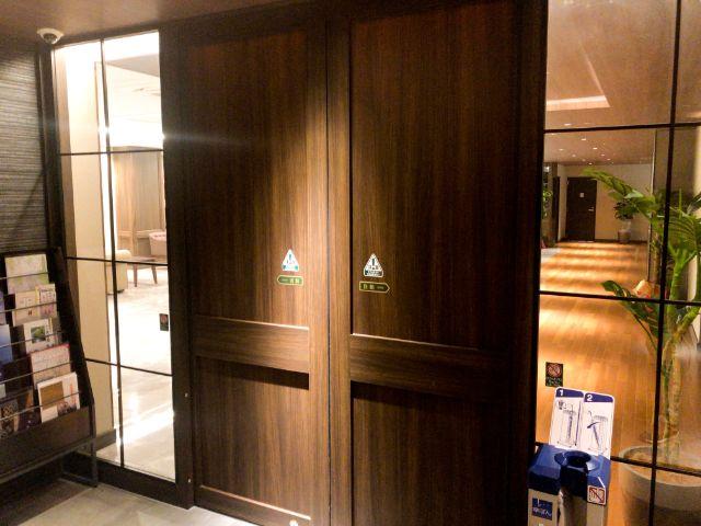 ホテルアベストグランデ岡山のロビーへの入り口