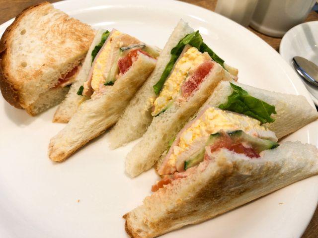 岡山珈琲館のサンドイッチ