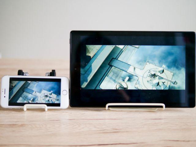 iPhone8とFire HD 10の画質比較