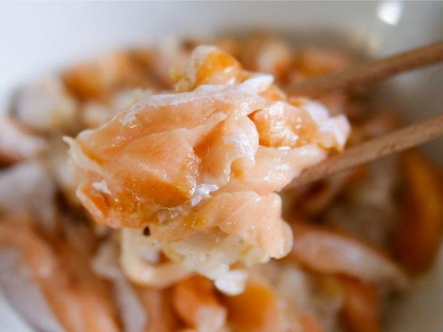 トロサーモン丼を食べる