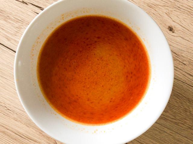 完成したスープ