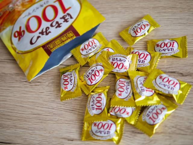 はちみつ100%のキャンデーの中身