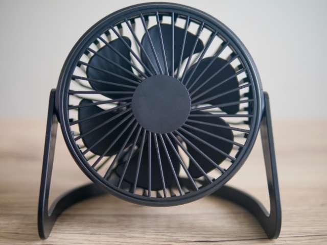 ダイソーのUSB扇風機の正面画像