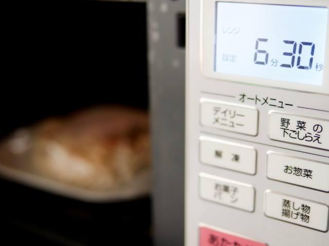 具付麺を電子レンジで加熱