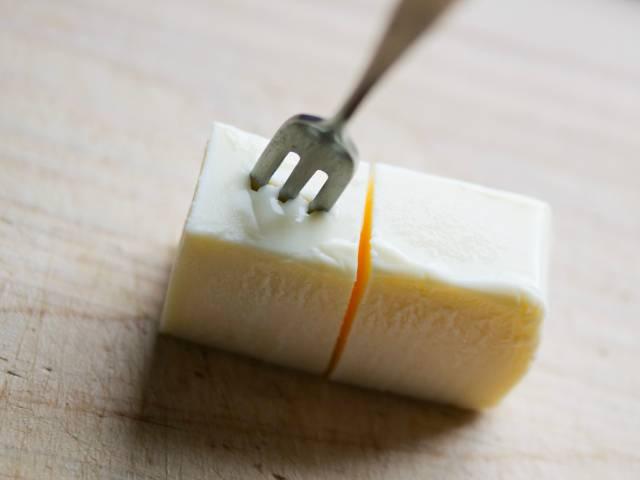 半解凍のリッチチーズケーキ