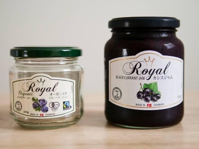 RoyalオーガニックジャムとRoyalジャム