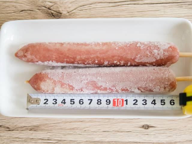 16.5cmの串つきフランクフルト