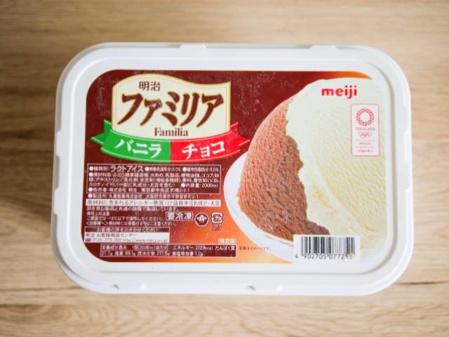 業務スーパーで買った大容量アイス「ファミリア」