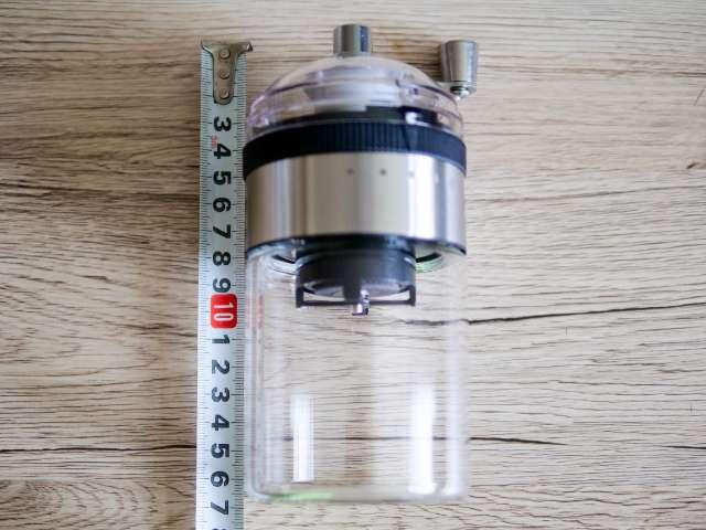 ダイソーのコーヒーミルの高さを測る