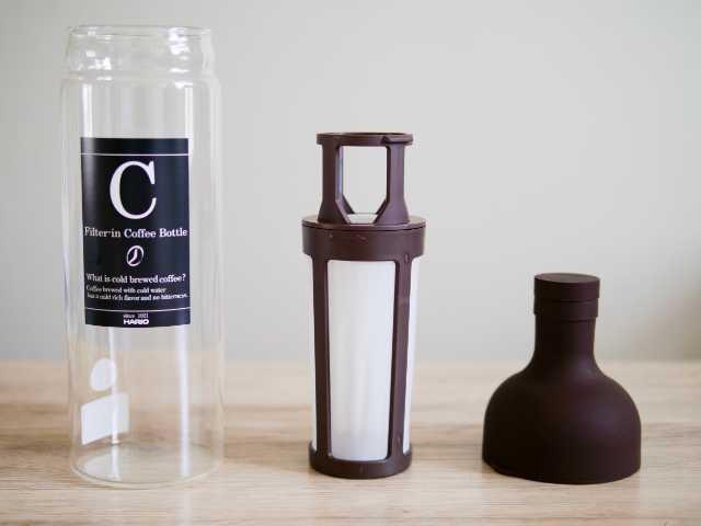 ハリオの水出しコーヒーボトルを3パーツに分解