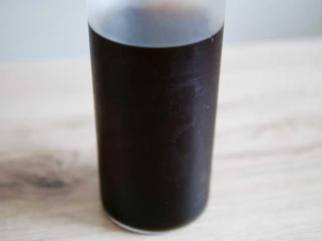ボトル内の水出しコーヒー