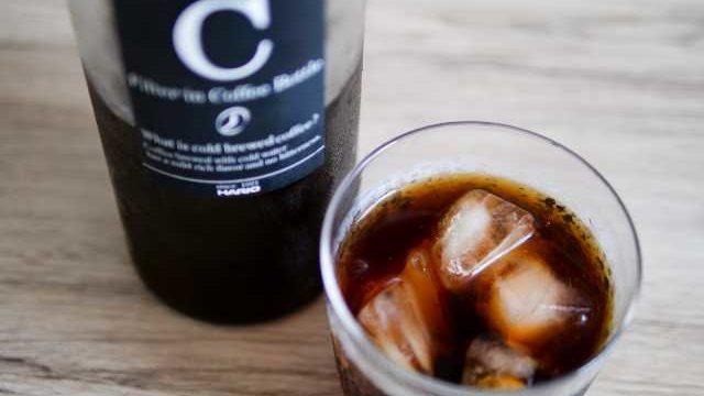ハリオの水出しコーヒーボトルで作ったアイスコーヒー