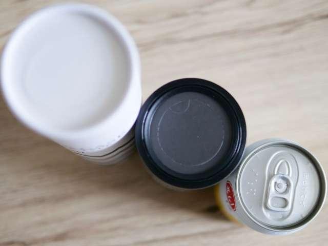 缶ジュースと同じ幅のボトル型ティッシュケース