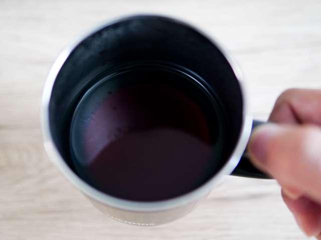 出来上がったコーヒー
