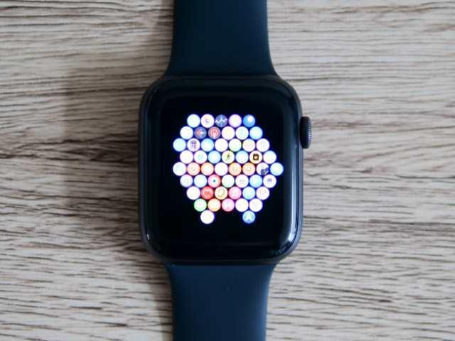 Apple Watchのアプリのグリッド表示