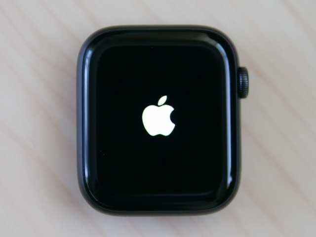 電源を入れたApple Watch