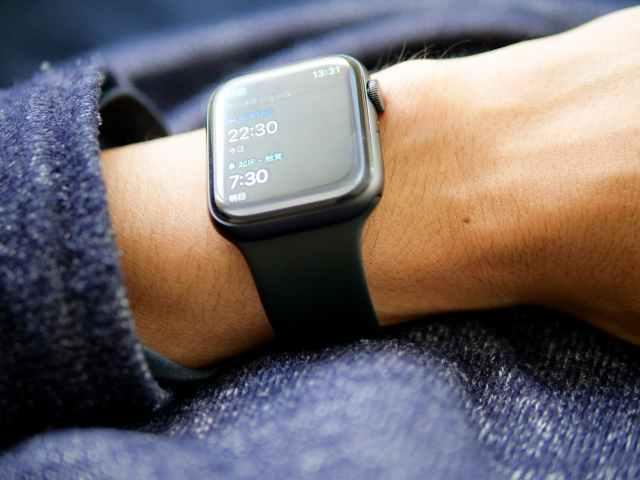 就寝時に装着したApple Watch SE 44mm