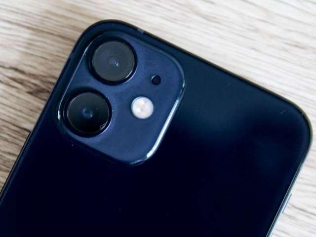 iPhone 12 miniのデュアルカメラ