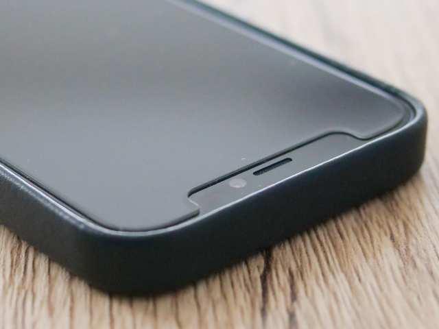 iPhone純正レザーケースの端の高さ